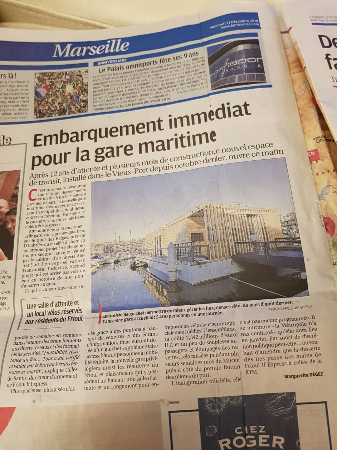 article la provence marseille gare maritime frioul if express transdev vieux port